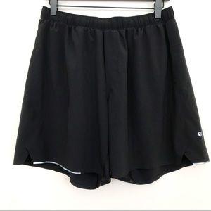 Lululemon Surge Shorts Black Large Gym Athletic